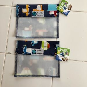 NWT Two Reusable sandwich snack window bags